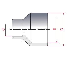 Riduzione conica incollaggio pvc d 110 90 x 75 forwater for Tipi di tubi in pvc